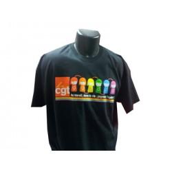 TEE SHIRT NOIR  LGBT  LA CGT